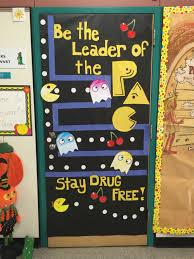 Halloween Classroom Door Decorations Pinterest by Red Ribbon Week Classroom Door Decorations Pac Man Classroom