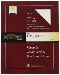 """100% Cotton Résumé Paper, 8.5"""" X 11"""