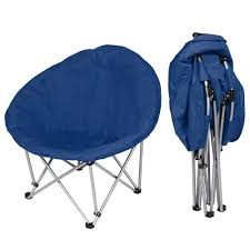 Oversized Saucer Moon Chair Padded Foldable Outdoor Cushioned Camping  Fishing Seat Soft Lazy Chair