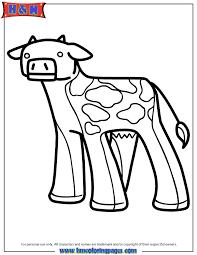 Cow Cartoon Minecraft Coloring Page