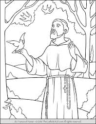 Saint Francis Coloring Page The Catholic Kid Pages And Games For Children Free