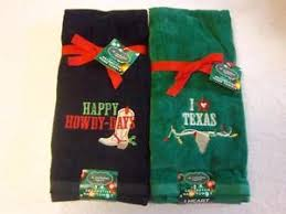 Decorative Hand Towel Sets by Texas Christmas Decorative Hand Towels Set Of 2 Green Or Black W