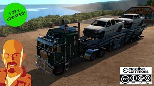 99 Youtube Truck Kenworth K100 ATS 133x American Simulator Mods