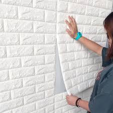 1 set 10 stk große 3d wasserdichte fliesen ziegel wand aufkleber selbstklebende schaum panel 70x77cm weiß