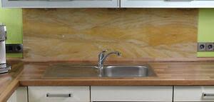 details zu esg küchenrückwand fliesenspiegel glas 4mm oder 6mm sandstein küche spritzschutz