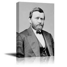 Portrait Of Ulysses S Grant 18th President The United States American Presidents Series