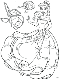 Disney Princess Coloring Sheets Printables Pages Online Games Belle Book Printable Large Size