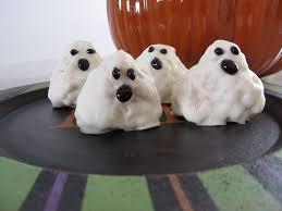 Rice Krispie Treats Halloween Shapes by Halloween Recipe Rice Krispie Treat Ghosts The Pink Apron