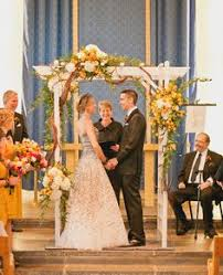 Rustic Wedding Arch With Yellow And White Flowers Sweet Little Photographs Daniel Vaughn Designs