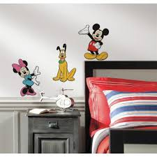 3D Foam Wall Decals Of Mickey Mouse Minnie And Plutos