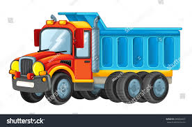 Cartoon Funny Looking Cargo Truck Illustration Stock Illustration ...