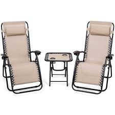 Giantex 3 PCS Zero Gravity Chair Patio Chaise Lounge Chairs Outdoor Yard  Pool Recliner Folding Lounge Table Chair Set Backyard Lounge Chairs (Beige) Outime Lounge Chair Patio Chaise Lounger Black Rattan Deck Adjustable Cushioned Pool Side Chairbeige Cushionsset Of 2 16 In Seat Montego Bay Alinum Sling Outdoor Fniture With Cushion Plastic Chairs Inspiring Wooden Cushions Lounge Chair 44 Patio Chaise Peestickerscom Giantex 3 Pcs Zero Gravity Yard Recliner Folding Table Set Backyard Beige Extraordinary Improvement Replacement Clearance Goplus Lounges Back Wning Astounding