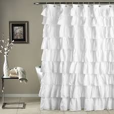 Light Grey Curtains Target by Bathroom Awesome White Ruffle Shower Curtain For Excellent