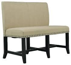 Upholstered Dining Room Bench With Back Elegant High