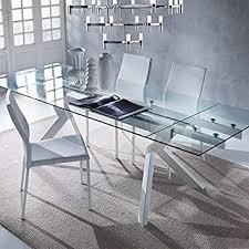m 029 tisch aus glas ausziehbar taupe design aurelia