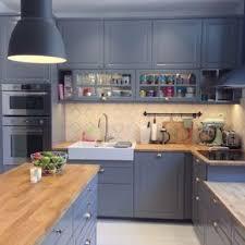 photo cuisine ikea licious bodbyn gris ikea cuisine style maison de cagne en bois