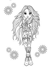 Avery The Rock Star In Moxie Girlz Coloring Pages