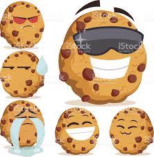 Chocolate Chip Cookie Cartoon Set B royalty free stock vector art