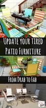 Diy Replace Patio Chair Sling by How To Update Your Tired Patio Furniture Tired Patios And Backyard