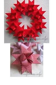 How To Make Beautiful German Star Wreath Paper Craft Step By DIY Tutorial Instructions