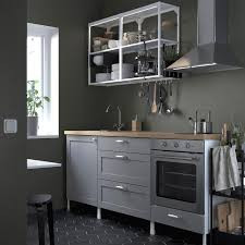 enhet küche weiß grau rahmen 203x63 5x222 cm