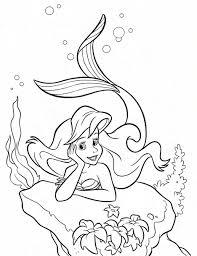 Ariel Coloring Pages Online Ariels Sisters Princess Wedding Colouring Large Size