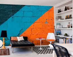 fototapete orange wand und blau nr 38782 uwalls de
