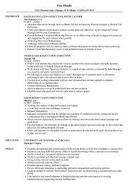 Download Sales Education Executive Resume Sample As Image File