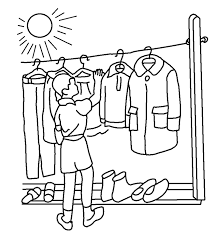 Kids Choose Clothes Coloring Pages