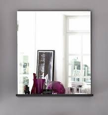 bad wandspiegel grau mit ablageboden badezimmer spiegel