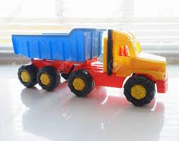 Toy Ttipper Truck, Industriële Voertuigen, Plastic Dump Truck Geel ...
