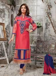 Buy VandV Pink Neck Pattern Cotton Salwar Suit Online