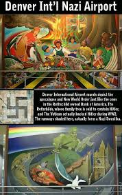 nwo mural the denver international airport look into what these