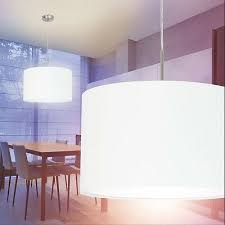 büromöbel moderne pendelleuchte stoffschirm 80x25cm weiß e27