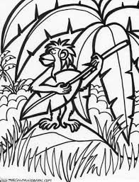 Jungle Scene For Class 4 Colouring Pages
