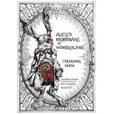 Alices Nightmare In Wonderland Colouring Book Paperback Jonathan Green