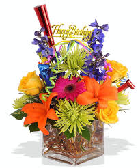 about happy birthday bouquet from Walter Knoll Florist in Saint Louis MO
