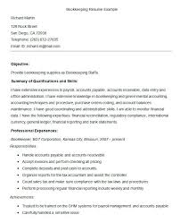 Bookkeeping Resume Free Templates Best Template Procedures Policies And