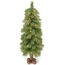 National Tree 30 Inch Feel Real Spruce With 35 Warm White Battery Operated LED Lights