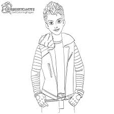 Carlos In Descendants Wicked World Coloring Page