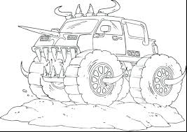 Monster Truck Coloring Pages Printable Jam Trucks For Toddlers Online Free Full Size