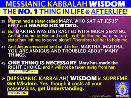 MESSIANIC KABBALAH WISDOM The NUMBER 1 Thing In Life And AfterLife This World Next