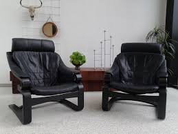 skippers møbler model apollo 2 pieces black leather