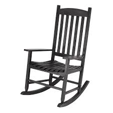 Mainstays White Solid Wood Slat Outdoor Rocking Chair
