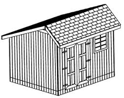 12x16 Storage Shed Plans by 10x10 Gable Roof Backyard Utility Shed Plans Cd Professional