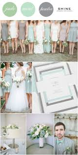 Mint Jade Pewter Wedding Inspiration Pinterest
