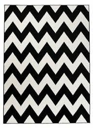 details zu designer teppich schwarz weiß zickzack modern muster wohnzimmer esszimmer
