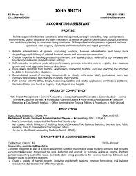 Easy To Use Resume Template For An Accounting Assistant Or Entry Level