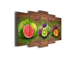 toile de cuisine décoration murale cuisine assortiment de fruits déco pas chère