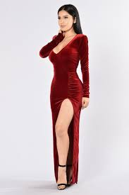 magic velvet dress wine